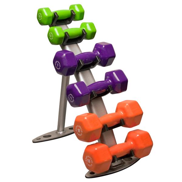 Gdr10 Vinyl Dumbbell Rack Body Solid Fitness