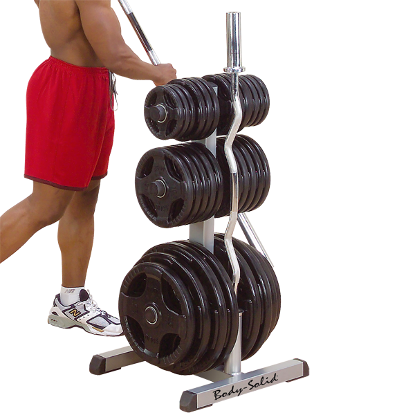 GOWT - Body-Solid Olympic Plate Tree & Bar Holder