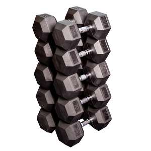 SDR - Rubber Coated Hex Dumbbells