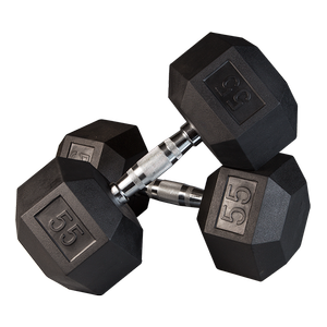 SDR Rubber Coated Hex Dumbbells