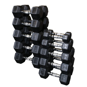 SDRS550 Rubber Coated Hex Dumbbell Sets