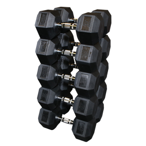 SDRS650 Rubber Coated Hex Dumbbell Sets