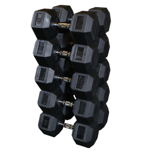 SDRS900 Rubber Coated Hex Dumbbell Sets