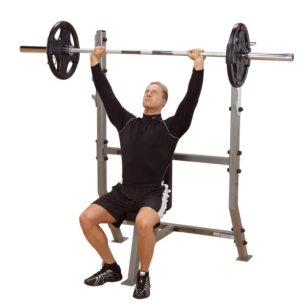 Free Weights Gym Near Me: Shoulder Press Olympic Bench