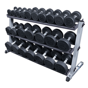 w/ optional 3rd tier and Round Rubber Dumbells