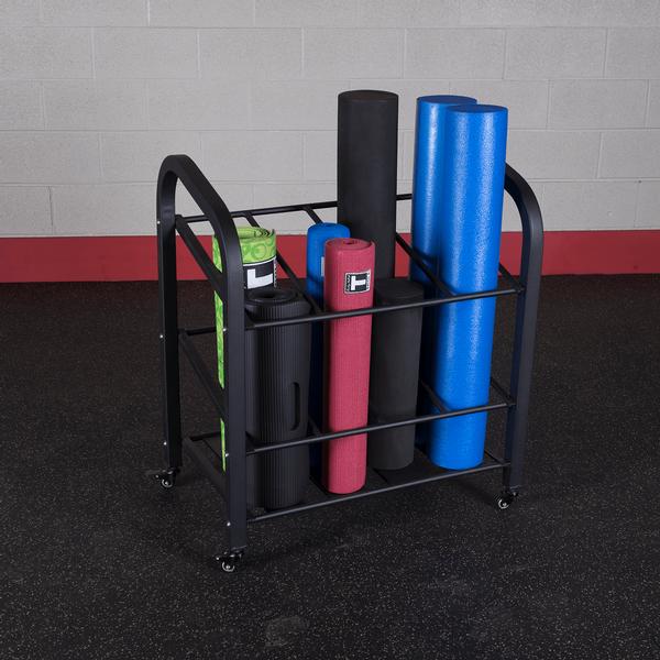 Gyr500 Foam Roller And Yoga Mat Rack Body Solid