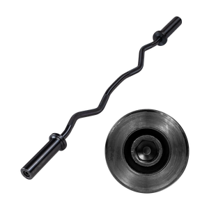 OB47B - Olympic Curl Bar- Black