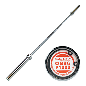 OB86P1000 - 7 ft. Premium Olympic Power Bar (chrome)
