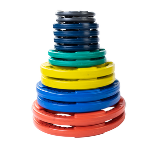 ORC Color Rubber Grip Olympic Plates
