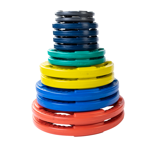 ORC - Color Rubber Grip Olympic Plates