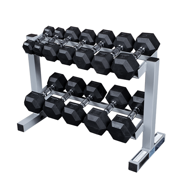 Pdr282x Powerline Dumbbell Rack W Optional Rubber Dumbells