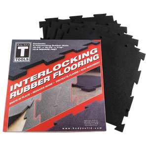RFBST4PB - Body-Solid Tools Interlocking Rubber Flooring (black)
