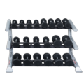3-Tier Saddle Dumbell Rack