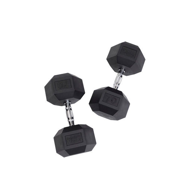 SDR - Rubber Hex Dumbbells