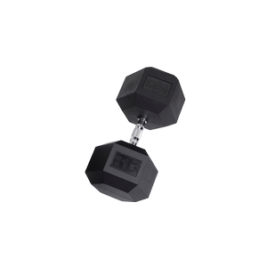 SDR115 Rubber Hex Dumbbells