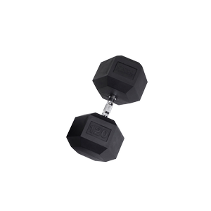 SDR120 Rubber Hex Dumbbells