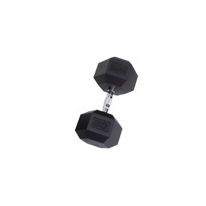 SDR80 Rubber Hex Dumbbells
