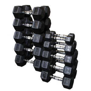 SDRS Rubber Coated Hex Dumbbell Sets