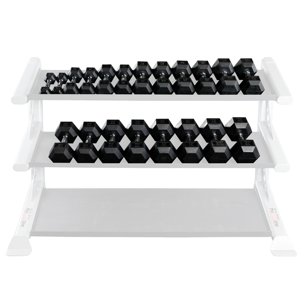 Dumbbell Set Up To 50: Rubber Coated Hex Dumbbell Sets