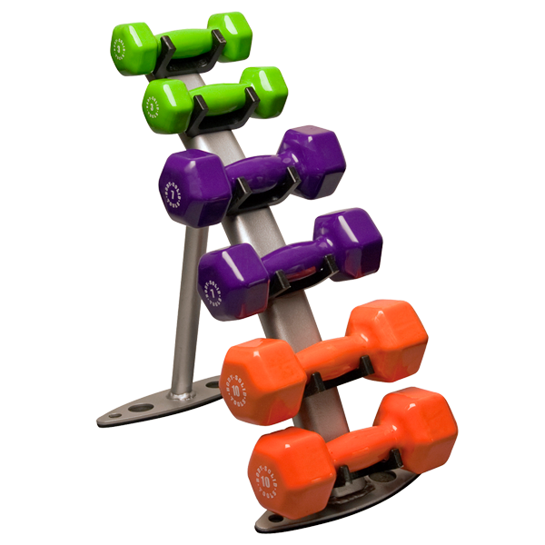Gdr10 Vinyl Dumbbell Rack Body Solid Fitness
