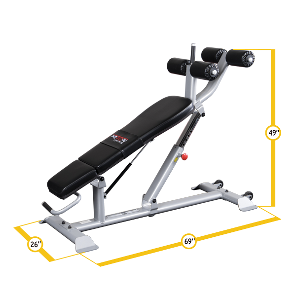 Body Solid Pro Clubline Adjustable Ab Bench Sab500 Gymfair